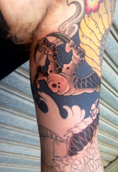 Work in progress - dragon and Koi full sleeve