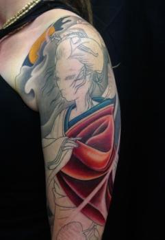 Work in progress - Geisha full sleeve