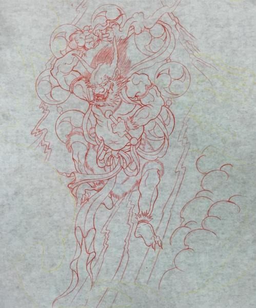 clareketon_wip_raijin_tattoo