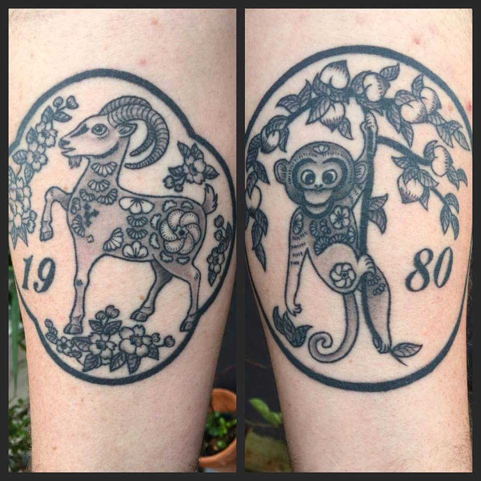 Gallery clareketontattoos for Year of the monkey tattoo