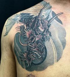 Work in progress - Koi Dragon