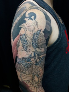 Work in Progress - Miya Moto Musashi (Samurai) and Naga Dragon Close Up