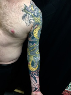 Work in Progress - Dragon Sleeve (inside)