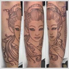 Work in Progress - Geisha & Paper Lanterns