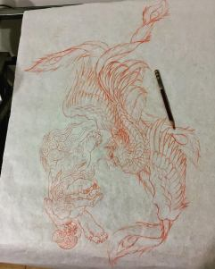Work in Progress - Pheonix & ShiShi Sketch