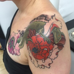 Work in Progress - Cover Up Peonies and Water Dragon