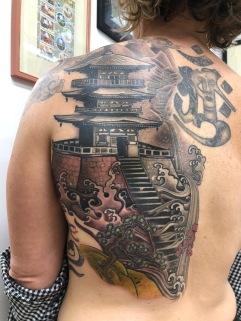 Japanese Pagods Work In Progress 1