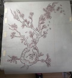 Cherry Blossom ( sakura full back piece)