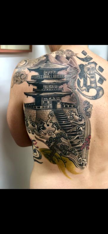 Healed Japanese Pagoda